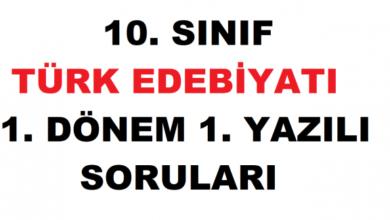 10.sınıf türk dili ve edebiyatı, soru ve cevap anahtarı